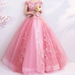 Pink prom or quinceañera dress